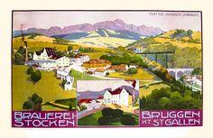 Trieb, Anton poster: Brauerei-Stocken Bruggen