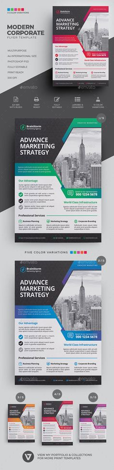 Corporate Business Flyer - Corporate Flyers Corporate Strategy, Corporate Flyer, Corporate Business, Magazine Advert, Print Advertising, Advertising Agency, Free Opening, Business Flyer Templates, Company Profile