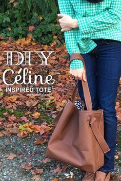DIY Céline inspired Oversized Tote