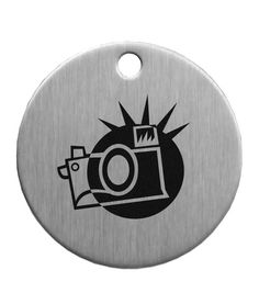 """1-1/2"""" Stainless Steel Circle Tag"""