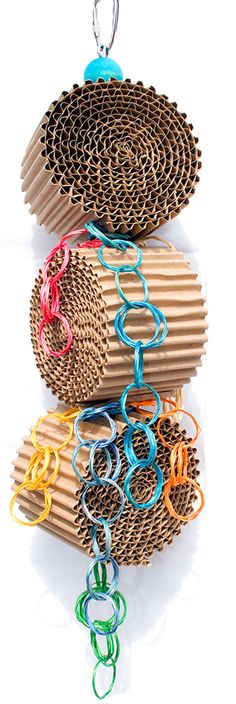 Mega Rolls Shredder  Bird Toys for Pet Parrots by A by abirdtoy, $10.00