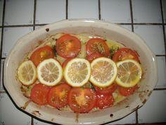 Poisson au four Voir la recette dans la cuisine de Mémé Moniq http://oe-dans-leau.com/cuisine-meme-moniq/