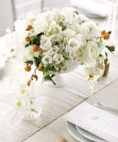 Wedding Ideas: orange-berry-white-flower-wedding-centerpiece