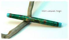 """K.R.H. Lampwork Designs ~ 4 1/4"""" Lampwork Striking Glass Tube Bead"""