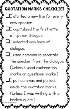 Teaching Quotation Marks and Dialogue is part of Writing instruction, Teaching dialogue, Writing dialogue, Writing dialogue teaching, Teaching writing, Narrative writing We've been busy working on n - #Writinginstruction 5th Grade Writing, 5th Grade Reading, Writing Classes, Writing Lessons, Writing Skills, Writing Ideas, Grammar And Punctuation, Teaching Grammar, Teaching Writing