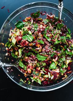Colorful beet salad,