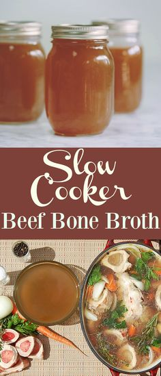 Set it and forget it in your crockpot with this step by step process to create Savory Beef Bone Broth. So many health reasons to add bone broth to your diet! Paleo, Whole30 approved.