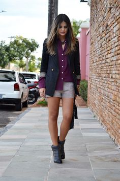 Thassia Neves using 3:AM Blazer & shorts