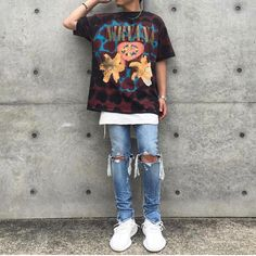 Stylish Mens Outfits, Cute Outfits, Mens Fashion Wear, Style Fashion, Pretty Men, Urban Outfits, Vintage Shirts, Streetwear Fashion, Korean Fashion