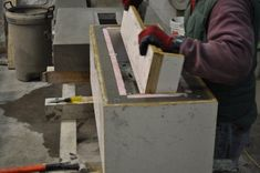 The Making of a Concrete Bench by Sticks and Stones Furniture