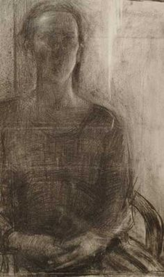 Serena Rowe | artist | Scottish painter | female artist :: charcoal on paper drawing