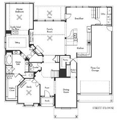 Floor Plan - love the Master sitting area