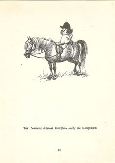 1962 Thelwell Cartoon Print - The Correct Sitting Position Must Be Mastered- £6.00