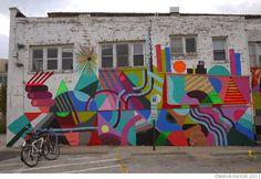 Maya Hayuk graffiti geometrique graffiti art