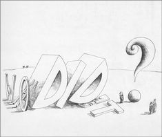 """Saul Steinberg, from """"The Inspector"""", published byPenguin Books, 1976 (first published by The Viking Press 1973)"""
