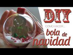 DIY cómo decorar una bola de navidad transparente - YouTube