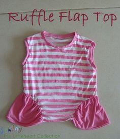 Sewing The Littleheart Collection  Ruffle Flap Top 72d58f1c95