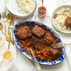 Slow Cooked Brisket, Apricots and Harissa