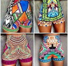 #africanprint shorts