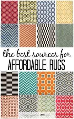 I have spent loads of time combing the internet looking for the best sources for affordable rugs! All the work is done for you. Check out the list!