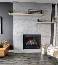 For your decorative concrete projects think Sica! Concrete Fireplace, Home Fireplace, Fireplace Surrounds, Concrete Wall, Fireplaces, Beton Design, Foyer Mural, Inset Stoves, Bear Decor