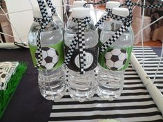 botellas de agua deco futbol