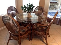 Special Offers on Rattan and Wicker Furniture Old Wicker Chairs, Wicker Dining Set, Round Dining Set, Dining Arm Chair, Dining Sets, Resin Wicker Furniture, Wicker Patio Furniture, West Indies Decor, Pub Table And Chairs