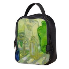 """Colored Glass #9"" design by Margaret Ann Missman Neoprene Lunch Bag"
