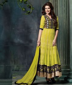 Buy latest collection of Sonali Bendre #Designer Anarkali suits for special #Wedding season for #Women #Online in #India.  Visit us :- http://www.shoppers99.com/daily_offer/sonali_bendre_designer_anarkali_suit_collection