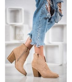 Bella Paris Suede Cowboy Boots On A Pole brown Suede Cowboy Boots, Heeled Boots, Shoe Boots, Winter Heels, Types Of Heels, Different Styles, Fashion Shoes, Brown, Bella