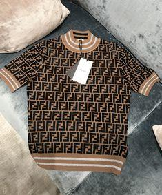 Fendi Prints on capsule collection monogram viscose jumper by PSL Sweatshirt Outfit, Jumper Outfit, Fendi, Fashion Line, Fashion Fashion, Runway Fashion, Fashion Trends, Casual Outfits, Cute Outfits