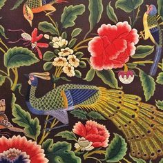 Flores y pájaros para Mantón Folk Embroidery, Embroidery Designs, Aw 2017, Textiles, Summer Special, Thread Painting, Costume, Textile Art, Weaving