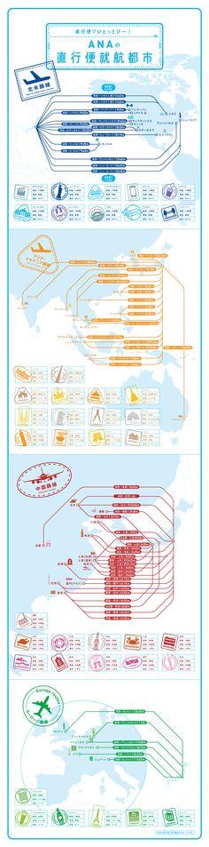 直行便でひとっとび~♪ ANAの直行便就航都市 Layout Design, Web Design, Graphic Design, Asian Design, Information Design, Beautiful Mind, Type Setting, Data Visualization, Trip Advisor