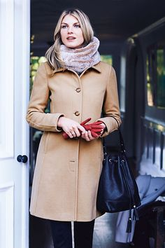 Belted zip trench coat in wool melton | In good taste | Pinterest ...