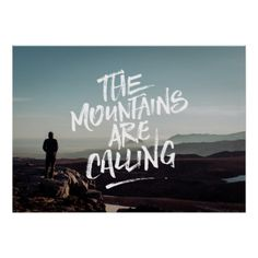 #createyourown #customize - #The Mountains Are Calling Photo Lettering Template Poster
