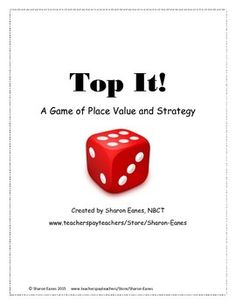 This game was designed to supplement instruction of place value in a fun way, and is appropriate for students who are learning to master numbers from the hundreds to the hundred millions. All you need for this game is dice and your class is ready to roll!