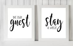 Be Our Guest / Stay A While 8 x 10 DIGITAL by IslaJoStudio on Etsy