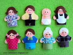 Vanessa Biali: Families Dedoches finger puppets