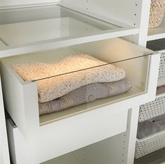 IKEA Komplement Glass Front Drawer - Decoist