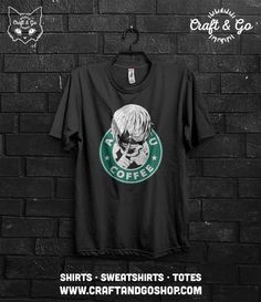 Tokyo Ghoul, Kaneki Ken T-shirt (anime tokyo kushu starbucks funny otaku flcl)  If you're going to buy more than 3 t-shirts / totes please let us know