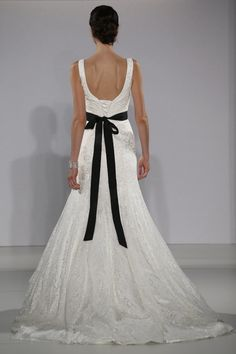 Maggie Sottero - Bridal Fall 2013    TAGS:Embroidered, Fishtail, Straps, White, Black, Black and white, Maggie Sottero, Lace, Silk, Glamour