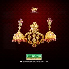 How many of you are like this Traditional Design #Earrings from Chungath Jewellery? www.chungathjewellery.com