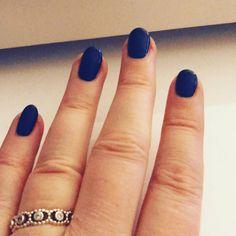 New Nails indigo frock cnd shellac