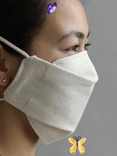DIY Cotton Face Mask - Modern Design<br> Sith Mask, Cardboard Mask, Blue Mask, Origami Design, Diy Face Mask, Face Masks, Lipstick Colors, New Trends, Kylie Jenner