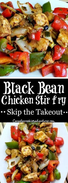 Bean and Chicken Vegetable Stir Fry Black Bean Chicken stir fry, skip the takeout tonight! Black Bean Chicken stir fry, skip the takeout tonight! Chinese Vegetables, Fried Vegetables, Chicken And Vegetables, Chicken Vegetable Stir Fry, Vegetable Recipes, Chicken Recipes, Vegetable Dish, Chinese Vegetable Stir Fry, Gourmet