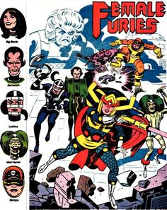 Granny Goodness and the Female Furies from Apokolips