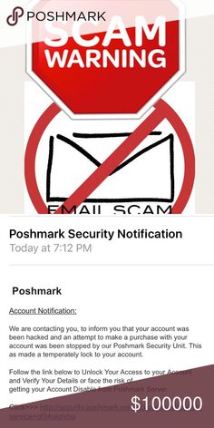❌🚫SCAMMERS🚫❌ Attention Poshers! Be aware of emails that say they are from posh support. They are not! Don't click on them. I've gotten several of them. I called my local police department and they told me to bring in everything I have and they will get it to their fraud department. Hopefully they can find out who/where they are coming from. I didn't think they would even offer to help but they did. Just sharing to stop anyone from getting scammed! Other