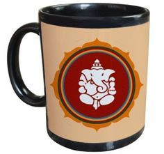 Tiedribbons - Beautiful Ganesha Gifts For Diwali Black Coffee Mug