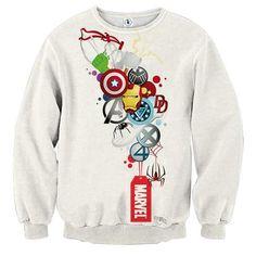 Marvel The Avengers Iron Man Symbols Dope Style Sweatshirt - Sweat Shirt - Ideas of Sweat Shirt - Marvel Fashion, Disney Fashion, Iron Man Symbol, The Avengers, Avengers Symbols, Ms Marvel, Dope Style, My Style, Mode Dope