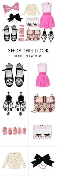 """i wish"" by ectob1sexual ❤ liked on Polyvore featuring D&G, Coast, Valentino, shu uemura, Topshop, Cutie, decora, cute, fairy kei and sweet lolita"